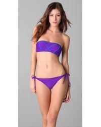 Brette Sandler Swimwear - Purple Molly Bandeau Bikini - Lyst