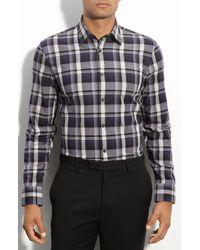 Calibrate   Purple Variegated Plaid Sport Shirt for Men   Lyst
