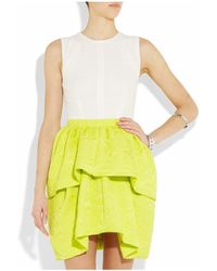 Camilla & Marc - White Cylinder Crepe and Jacquard Dress - Lyst