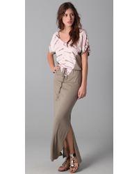 C&C California | Multicolor Tabard Tie Dye Maxi Dress | Lyst