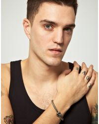 Cheap Monday - Metallic Exclusive To Asos Knot Bracelet for Men - Lyst