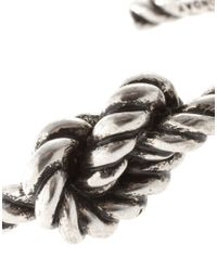 Cheap Monday | Silver Exclusive To Asos Knot Bracelet for Men | Lyst