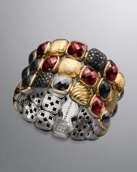 David Yurman - Multicolor Chiclet Three-row Bracelet - Lyst