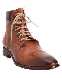 Harris | Brown Cap Toe Work Boot for Men | Lyst