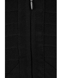 Hervé Léger Black Paneled Bandage Dress