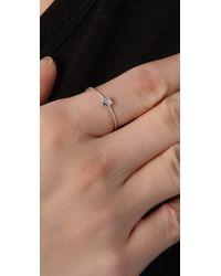 Jacquie Aiche - Metallic Diamond Mini Star Waif Ring - Lyst