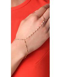 Jacquie Aiche - Yellow White Pearl Vintage Chain Finger Bracelet - Lyst