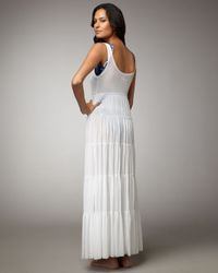 Jean Paul Gaultier | White Tiered Cover-up Maxi Dress | Lyst