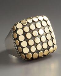 John Hardy - Metallic Dot Square Ring - Lyst