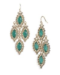 Kendra Scott | Green Fiona Chandelier Statement Earrings | Lyst
