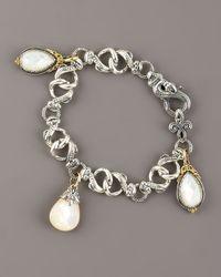 Konstantino - Metallic Mother-of-pearl Charm Bracelet - Lyst