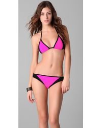 Michael Kors | Pink Colorblock Bikini Set | Lyst