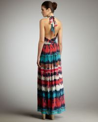 MILLY | Multicolor Gustavia Dip-dyed Maxi Dress | Lyst