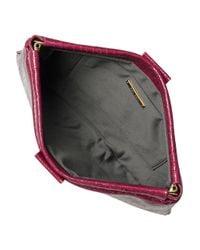 Miu Miu | Pink Croc Print Leather Clutch | Lyst