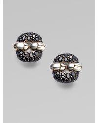 John Hardy - Metallic Black Sapphire & Sterling Silver Small Rectangular Earrings - Lyst