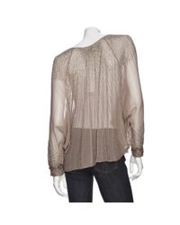Parker Brown Sheer Long Sleeve Sequin Top