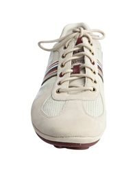 Paul Smith - Off White Leather Tago Striped Sneakers for Men - Lyst