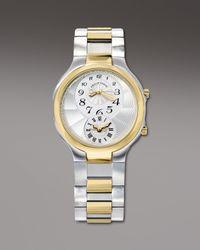 Philip Stein | Metallic Round Two-tone Watch On Interchangeable Two-tone Bracelet | Lyst