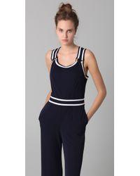 Philosophy di Alberta Ferretti | Blue Cross-back stretch-crepe jumpsuit | Lyst
