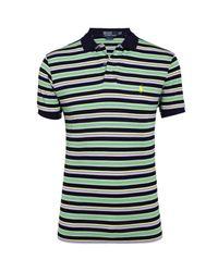 Polo Ralph Lauren | Blue Striped Polo Shirt for Men | Lyst