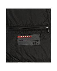 Prada | Gray Sport Steel Quilted Coated Nylon Faux Shearling Collar Down Coat for Men | Lyst