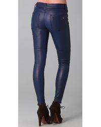 Rag & Bone   Blue The Skinny Leather Pants   Lyst