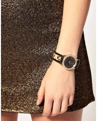 River Island Multicolor Watch With Leopard Print Strap