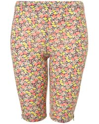 TOPSHOP | Multicolor Ditsy Floral Cycling Short | Lyst