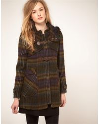 Whistles | Multicolor 70s Check Duffle Coat | Lyst