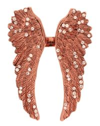 Wildfox - Metallic Gold Winged Ring - Lyst