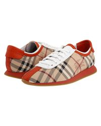 Burberry | Brown Haymarket Check Trainers | Lyst