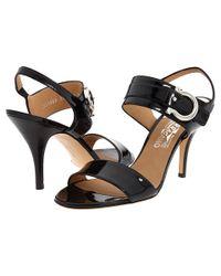 Ferragamo   Black Sandals Brianna Strappy   Lyst