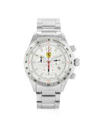 Ferrari - Metallic Scuderia Ferrari Stainless Steel Chrono Watch for Men - Lyst