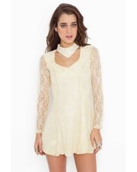Nasty Gal | Natural Lace Choker Dress | Lyst