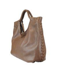 Ralph Lauren Collection - Brown Double Handle Hobo - Lyst