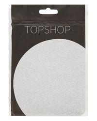 TOPSHOP Metallic Silver Lurex Tights