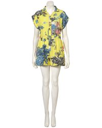 TOPSHOP | Yellow Tropicana Floral Playsuit | Lyst