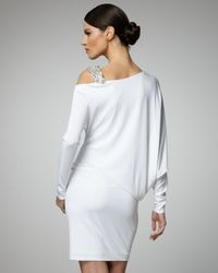 David Meister | White Dolman-sleeve Cocktail Dress | Lyst