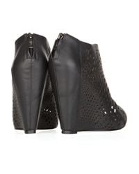 Mea Shadow - Black Giglio Laser-cut Leather Ankle Boots - Lyst