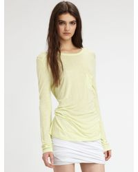 T By Alexander Wang | Yellow Classic Long-sleeve Tee | Lyst