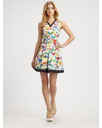 Jil Sander Navy - Multicolor Tiered Dress - Lyst