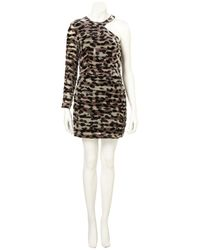 TOPSHOP | Multicolor Animal Devore Asymmetric Dress | Lyst