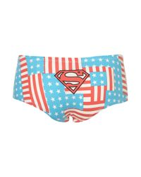 TOPSHOP Red Supergirl Stars and Stripes