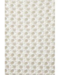 TOPSHOP - White Knitted Wetlook Stitch Jumper - Lyst