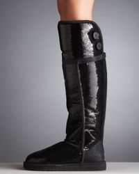 UGG - Black Sequined Sparkles Bailey Boot - Lyst