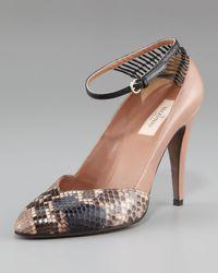 Valentino | Pink Python Spider Runway Pump | Lyst