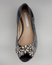Vera Wang Lavender Black Luna Jeweled Ballerina Flat