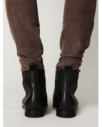Free People - Black Two-Tone Chelsea Boot - Lyst