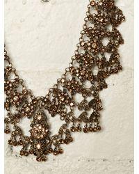 Free People - Metallic Vintage Brass Necklace - Lyst