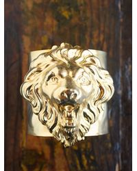 Free People | Metallic Vintage Lion Cuff Bracelet | Lyst